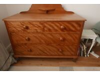 Antique Vintage Chest of Drawers -Hardwood