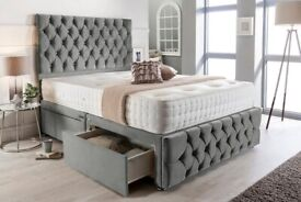 New Chesterfield Divan Beds Sets available now in stock for quick delivery