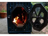 Antique French woodburner/stove