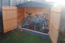 apex bike shed. only 5 months old approx 6ft x 3ft