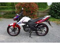 2015 SINNIS SP 125, used as starter bike while learning, fully serviced as per warranty.