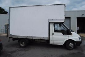 man and luton van with tail lift available to move single items to large loads,ebay shop collections