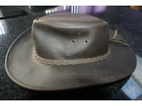 GENUINE LEATHER BUSH HAT