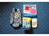 Baby Swim Bundle approx 0-6/9 months - nappy cover, nappies and wetsuit/warmer