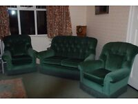 3 piece suite, sofa and 2 armchairs
