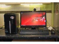 Packard Bell Imedia S3210, AMD Athlon x3 2.70GHz, 3GB Ram, 300GB, LCD, Printer