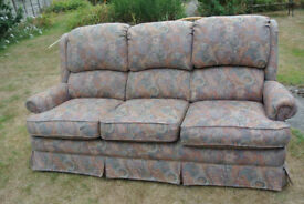 3 Seater Sofa and Matching Reclining Chair FREE