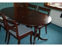 Mahogany Dining Table & Four Chairs