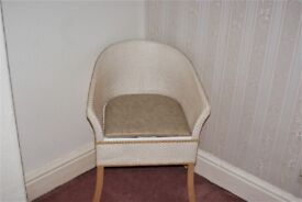 Commode basketweave tub chair