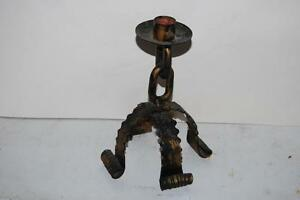 Candlestick holder. Metal. Heavy, gothic.