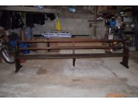 Large waiting room bench / peu 11ft6 long approx