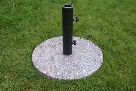 Granite Type Round Outdoor Patio Sun Umbrella Parasol Base