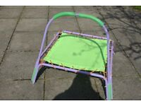 Kids mini Trampoline - good condition- only used indoors - Cost £35.00 - make me a reasonable offer