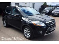 Stunning Ford Kuga TITANIUM 2.0 Tdci 4x4 ex demo plus ONE OWNER, FULL HIST, Black ,hlf lthr, alloys!