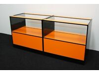 Shop Counter set of 2 units Orange and Black Gloss Finish/ Ref: 0329