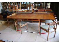 4320 KOFOD LARSEN for G Plan TABLE dining extending Danish teak era 1960s vintage London gplanera