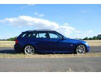 BMW 318D M Sport Tourer (143bhp) Lemans Blue with full service history. MOT expires 11th April 2019.