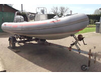 Elite V - 4.5 metre RIB boat & 60hp Outboard & Trailer - see info about repairs