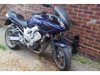 Yamaha FZ6 Fazer , sparesrepair project no key , valid MOT