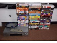 Sony VHS recorder + 50 Movies