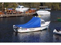 Orkney Strikeliner 16+ Fishing boat with Yamaha 25 autolube engine electric start + remote controls