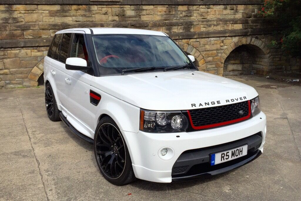 2006 land rover range rover sport 2 7 tdv6 white autobiography styling replica 22 onyx red. Black Bedroom Furniture Sets. Home Design Ideas