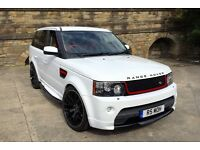 "2006 LAND ROVER RANGE ROVER SPORT 2.7 TDV6 WHITE Autobiography Styling, Replica* 22""ONYX,RED LEATHER"