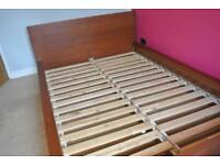 Ikea Double Bed - Malm (Medium Dark Brown).