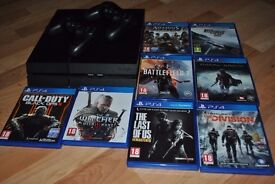 Playstation 4( 500gb) with 2 pads and 8 games