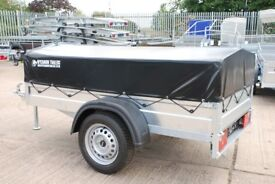 6x4 Box trailer single axle 750kg with low cover