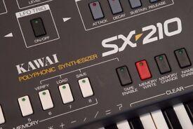 Kawai SX-210 Vintage analogue polysynth (similar to Korg polysix/Roland Juno 60)