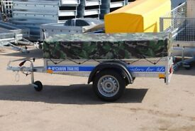 Box trailer 6x4 single axle 750kg with low cover