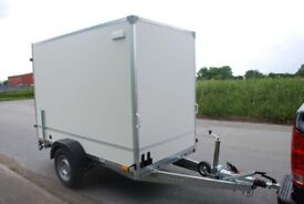 NEW BOX TRAILER WITH RAMP 8FT x 5FT x 6FT SINGLE AXLE 1300KG CAR CAMPING TRAILER
