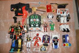 NOW SOLD - Power Ranger toys including Deluxe Thunder Megazord