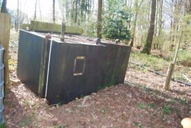 A Steel heating oil tank with gauge