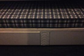 Single divan bed + mattress, Very good condition
