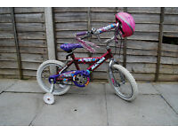 Pink Girls Bike Including Helmet & Stabilisers