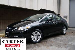 2015 Honda Civic LX + LOW KMS! + CERTIFIED 7YRS/160000KMS