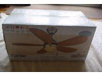 Turbo ceiling fan (new in sealed box)