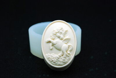 Unicorn Mold, Silicone Mold Mould Chocolate Polymer Clay Soap Candle Wax Resin