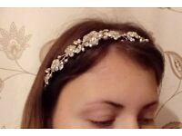 Bespoke Debbie Carlisle Hair Piece Tiara Vine Mix Prom or Bridal *Price ono*