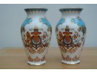 Pair of Royal Doulton 2002 Golden Jubilee Vases