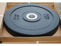 BRAND NEW BLACK OLYMPIC BUMPER PLATES *£2/KG* - WEIGHTLIFTING GYM CROSSFIT WEIGHTS