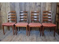 G Plan CHAIRS x4 solid all afromosia teak mid century modern country antique gplanera