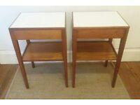 Vintage teak bedside tables FREE DELIVERY