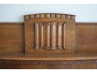 Art Deco/Arts & Crafts original 1930's wooden fireplace surround
