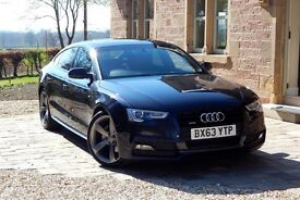 Audi A5 Sportback,Black Edition,Quattro,S-line suspension and interior,Sat Nav + many extras.