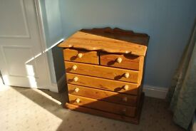 Chest of Drawers in Solid Antique Pine