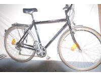 Mens Raleigh Pioneer Bicycle Frame 22 inch wheel 26 inch . 15 Deraileur gears Shimano