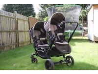 ABC DESIGN ZOOM DOUBLE PUSHCHAIR inc one carrycot